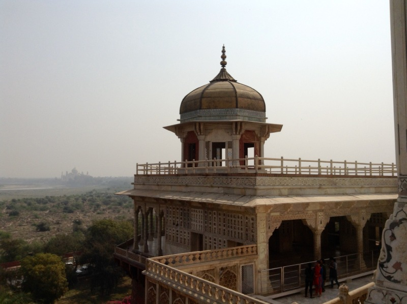 Agra Fort with Taj in the distance