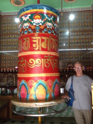 Bob spinning the Prayer Wheel
