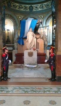 Tomb of General Jose de San Martin inside Cathedral Metropolitana