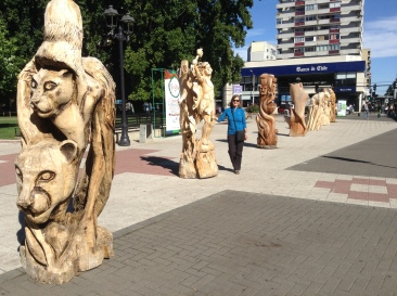 Temuco wood carvings