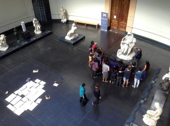 Art class in Bellas Artes