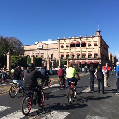 Sunday morning biking in Morelia