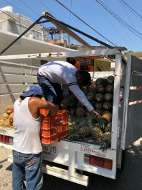 Truckload of pineapple
